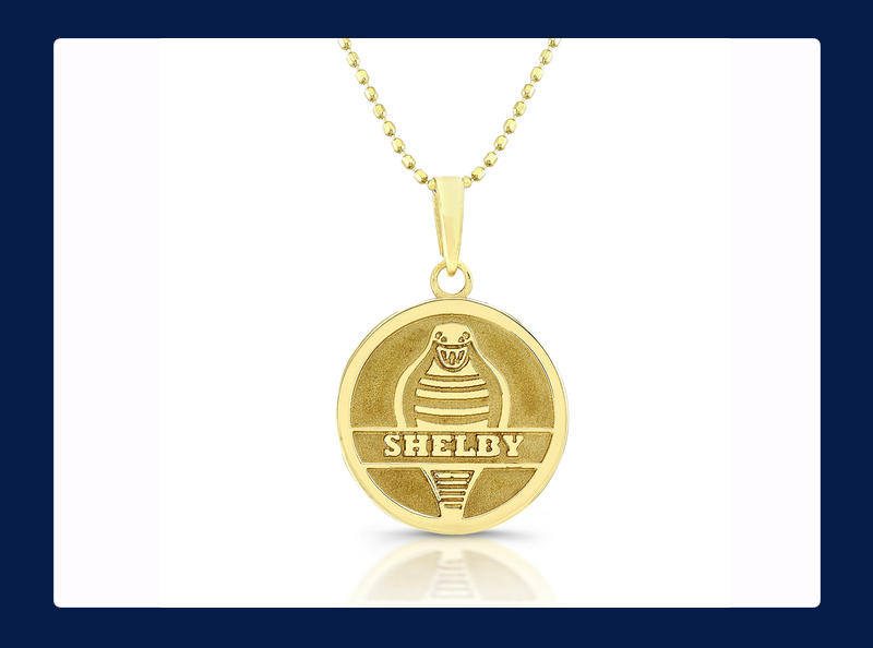 Gold Shelby Forward Facing Cobra Snake Pendant (Out of stock)