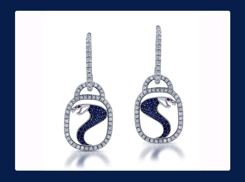 Shelby Cobra French and Micro Pave Earrings (Out of stock)