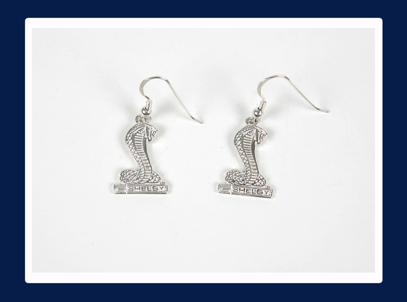 Silver Shelby Cobra Pendant Earrings (Out of stock)