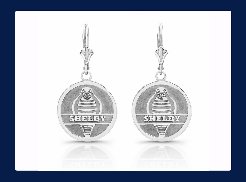 Silver Shelby Forward Facing Cobra Snake Charm Earrings (Out of stock)
