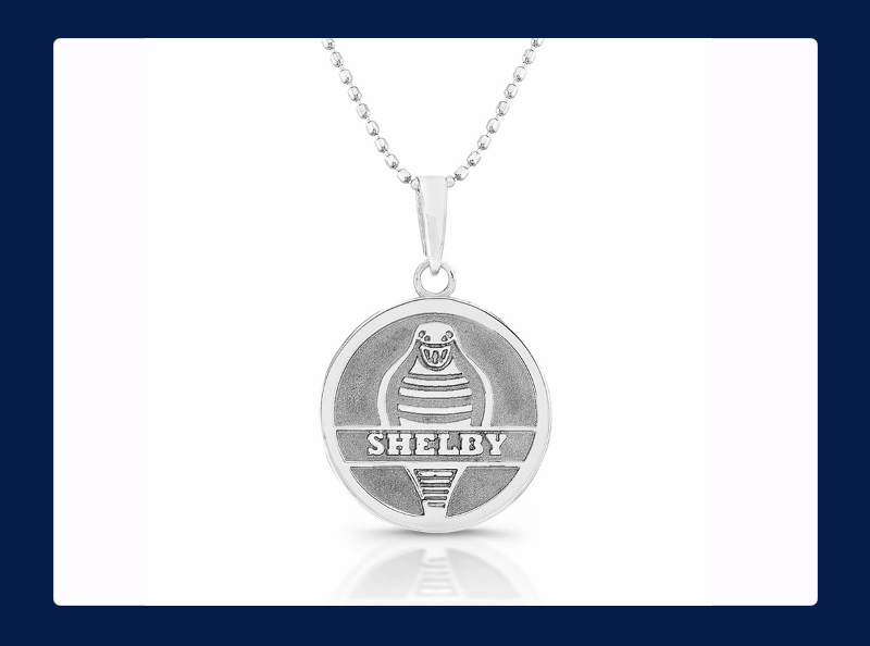 Sterling Silver Shelby Forward Facing Cobra Snake Pendant (Out of stock)