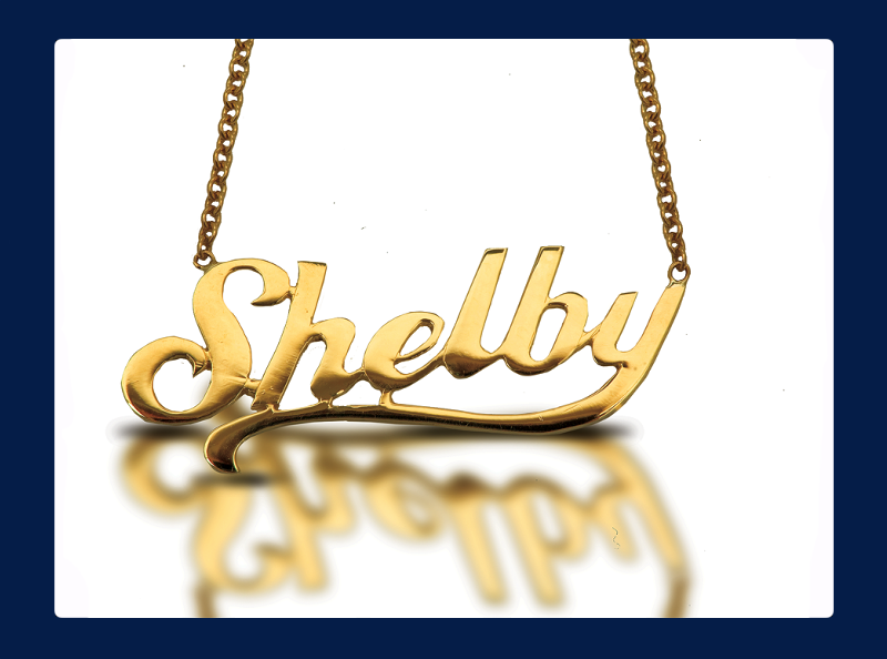 The 'Shelby' Necklace 'Yellow Gold or White' (Out of stock)