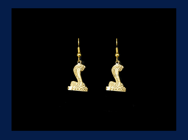 Gold Plated Shelby Cobra Wire Back Earrings