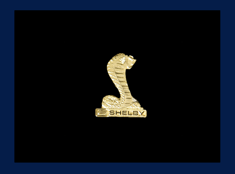 Gold Shelby Cobra Pin