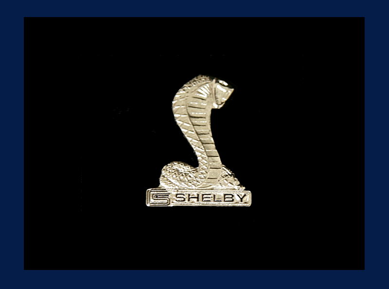 Silver Shelby Cobra Pin
